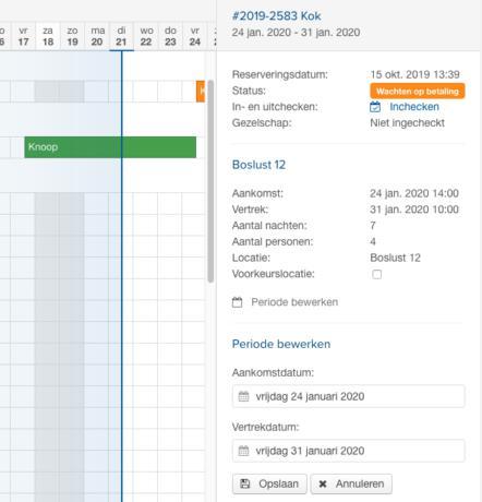 Online reserveringssyteem planbord