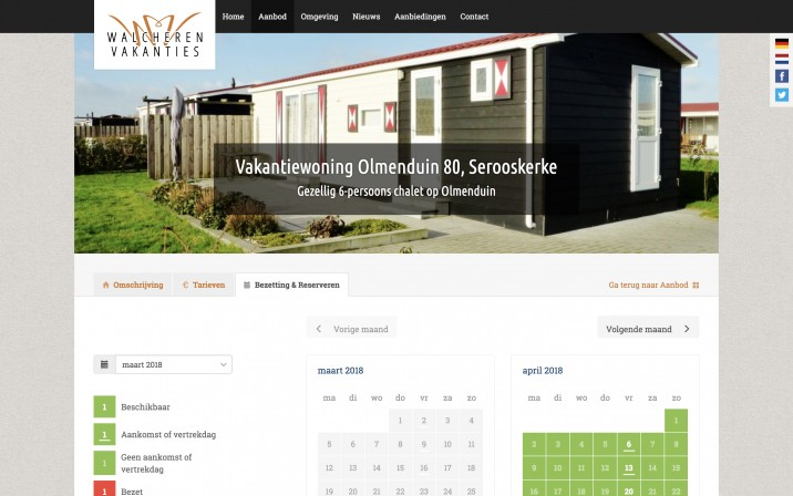 Online Reserveringssysteem Vakantiewoning Verhuur2