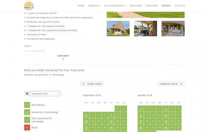 Online Reserveringssysteem Camping Zonneweelde