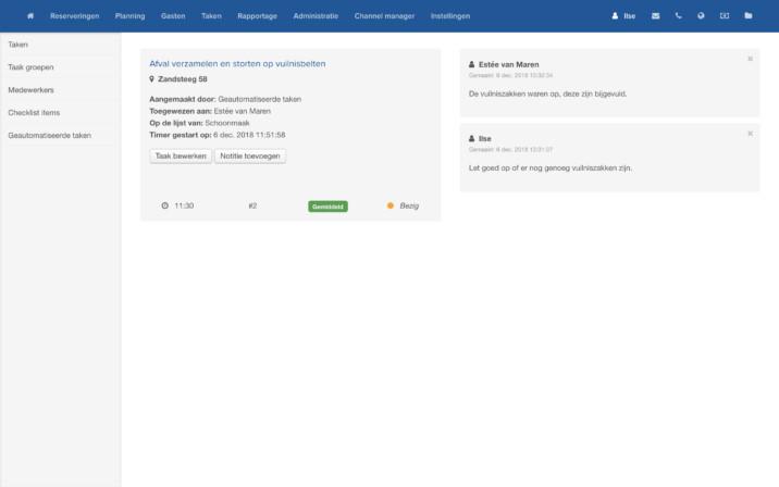 Online Reserveringssysteem Taken Inplannen Overzicht 2