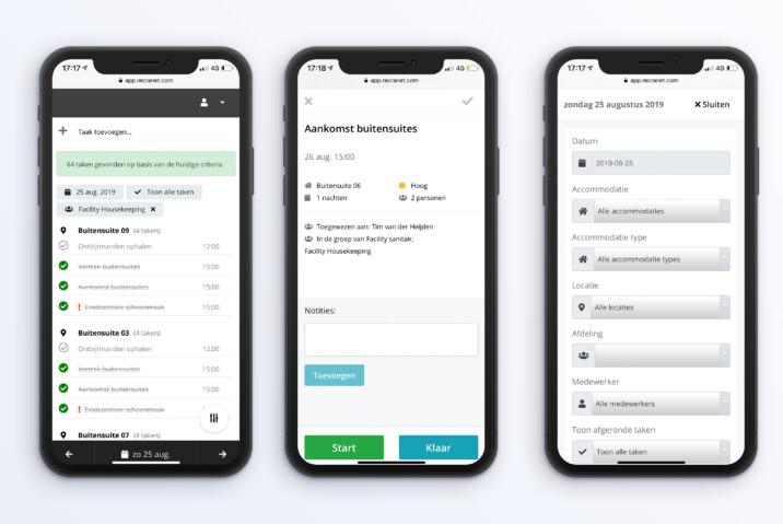 Online reserveringssysteem taken inplannen overzicht iphonex