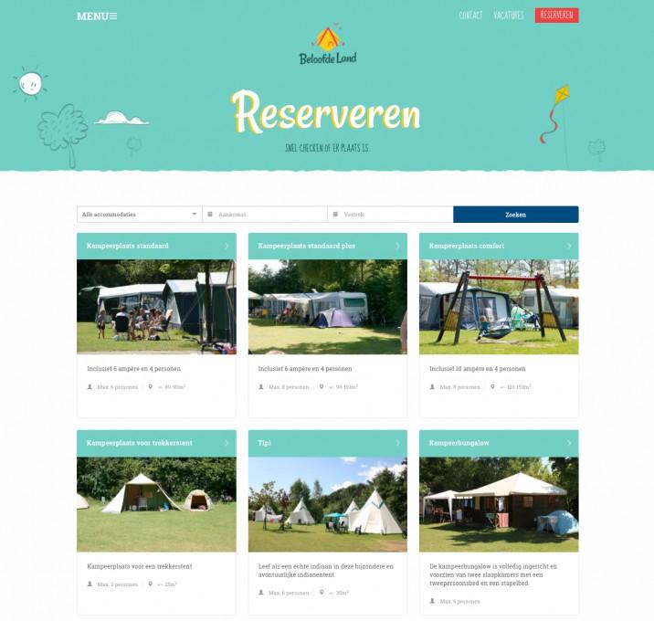 Online reserveringssysteem Reserveren Beloofde land