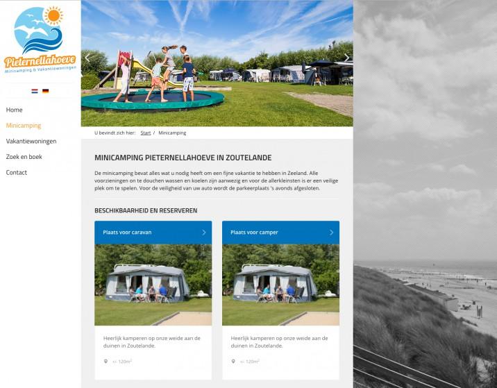 Online reserveringssysteem Accommodaties per categorie weergeven