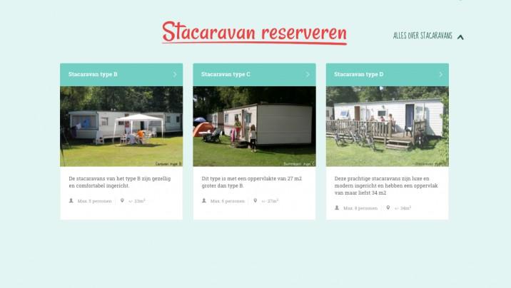 Online reserveringssysteem Stacaravan beloofde land