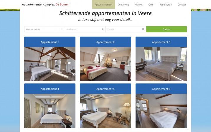 Online reserveringssysteem Reserveringssysteem appartementen