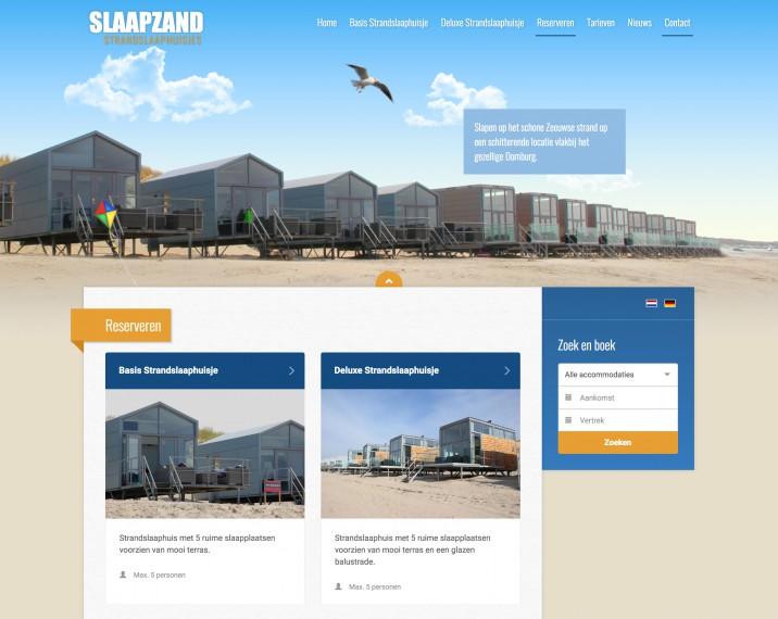 Online reserveringssysteem website integratie huisjes2
