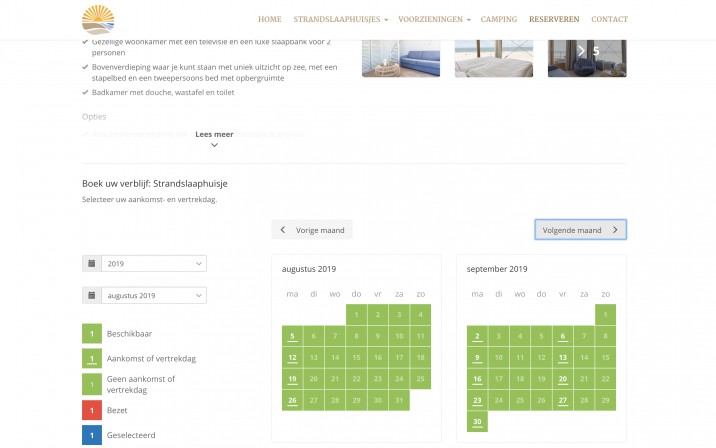 Online reserveringssysteem vakantiewoning verhuur3