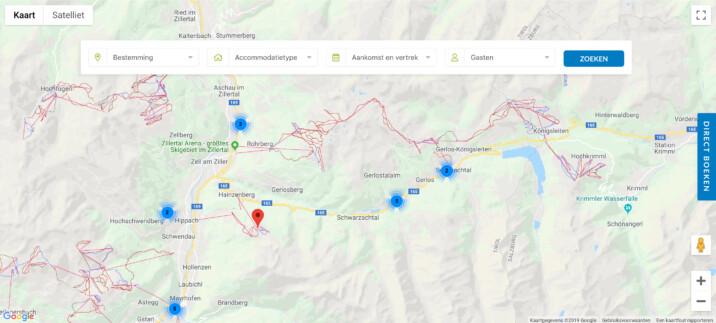 Online reserveringssysteem boeken op google maps