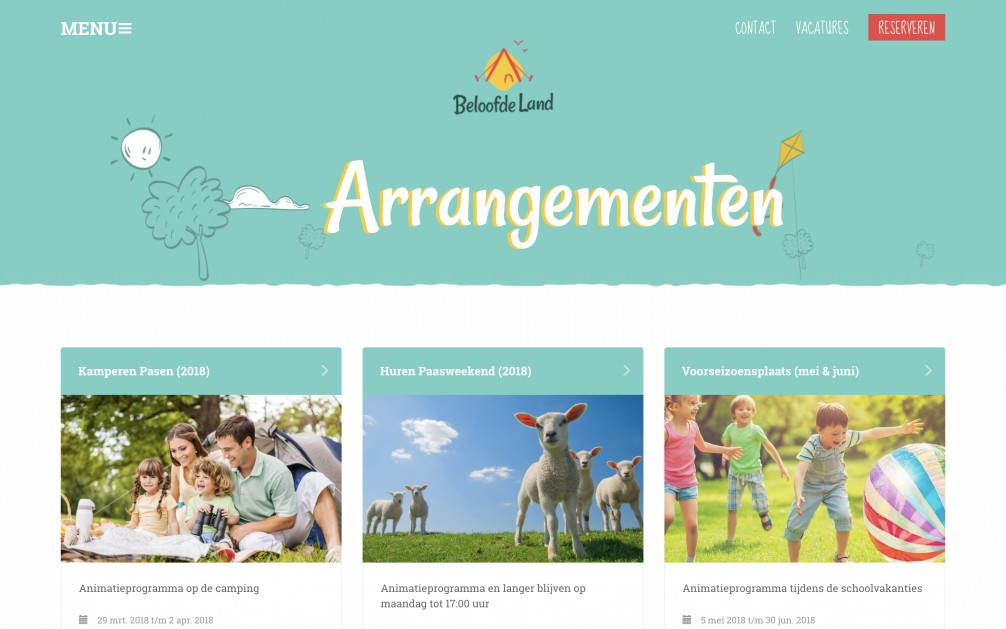 Online Reserveringssysteem Arrangementen Beloofde Land