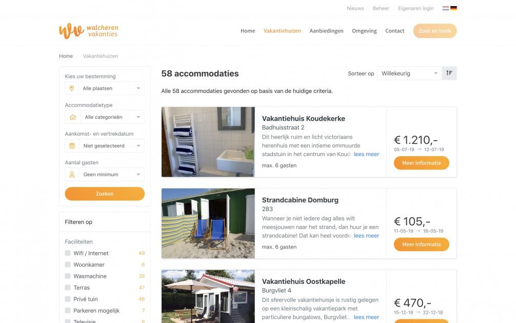 Online Reserveringssysteem Vakantiewoning Verhuur