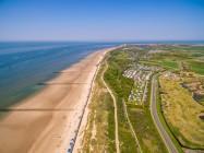 Dronefoto strand