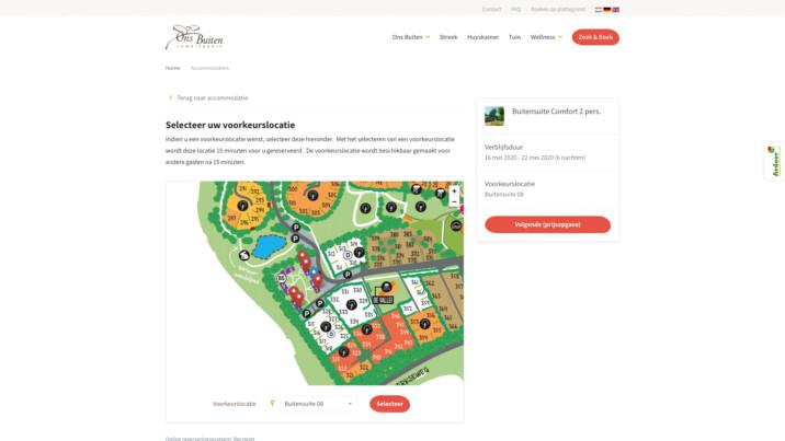 Online reserveringssysteem vakantiepark zoek en boek