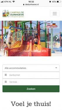 Online Reserveringssysteem Vakantiepark Duinhoeve Telefoon2