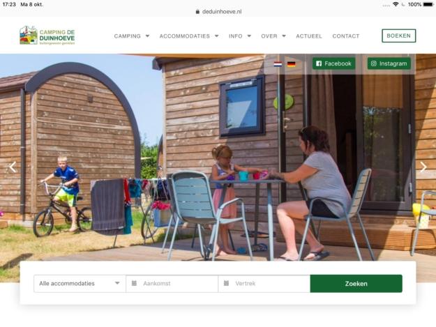 Online Reserveringssysteem Vakantiepark Duinhoeve Ipad