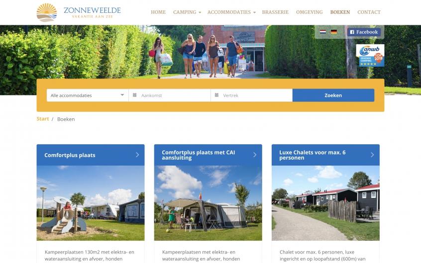 Online Reserveringssysteem Zonneweelde